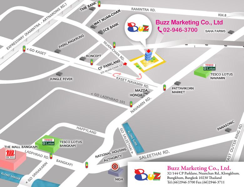 buzz marketing cosmenet office map
